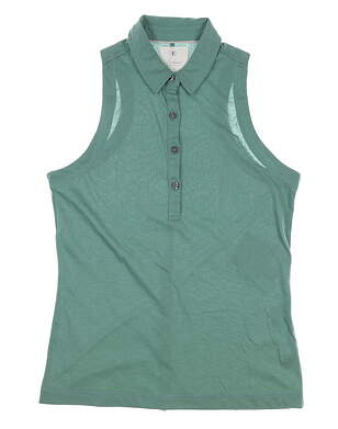 New Womens LinkSoul Sleeveless Polo Small S Agave MSRP $67 LSW137