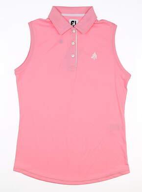 New W/ Logo Womens Footjoy Sleeveless Polo Small S Pink MSRP $70 27446