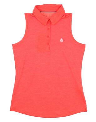 New W/ Logo Womens Under Armour Sleeveless Polo Small S Orange MSRP $72