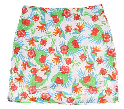 New Womens Greg Norman Floral Golf Skort X-Small XS Multi MSRP $80 G2S7H484