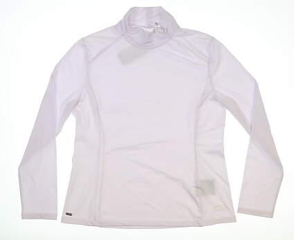 New Womens Nivo Sport Celeste Mock Large L White MSRP $100 NI8210194