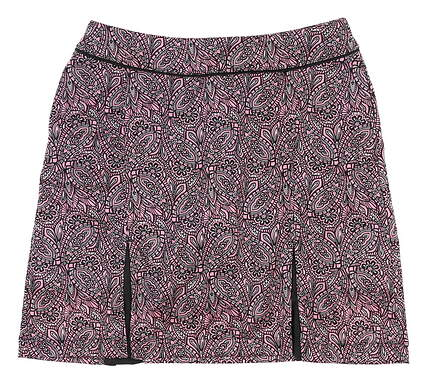 New Womens Greg Norman Printed Golf Skort Small S Pink MSRP $80 G2F8H780