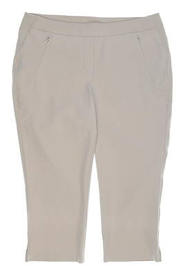New Womens Nivo Sport Neo Capris 12 Shell Beige MSRP $110 NI8210411