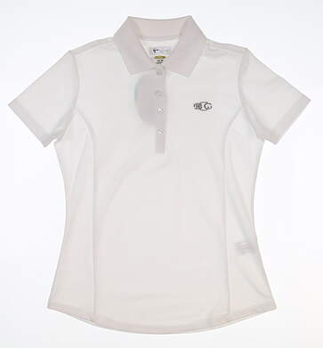 New W/ Logo Womens Greg Norman Golf Polo X-Small XS White MSRP $45 G2S5K447