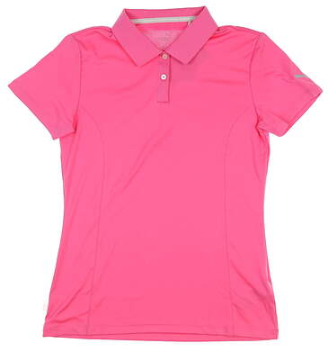 New Womens Puma Pounce Golf Polo Small S Pink MSRP $50 570527