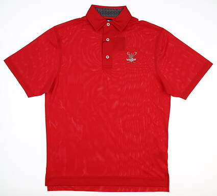 New W/ Logo Mens Footjoy Pique Golf Polo Small S Red MSRP $89 25505