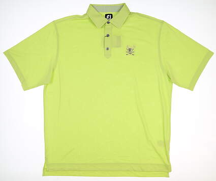 New W/ Logo Mens Footjoy Pique Golf Polo X-Large XL Lime MSRP $89 20618