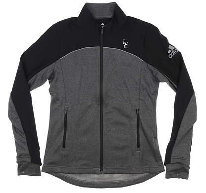 New W/ Logo Womens Adidas Adapt Jacket Small S Grey/ Black MSRP $85 CW6742