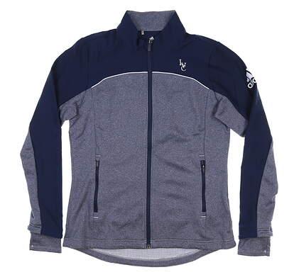 New W/ Logo Womens Adidas Adapt Jacket Medium M Blue MSRP $90 DU3873