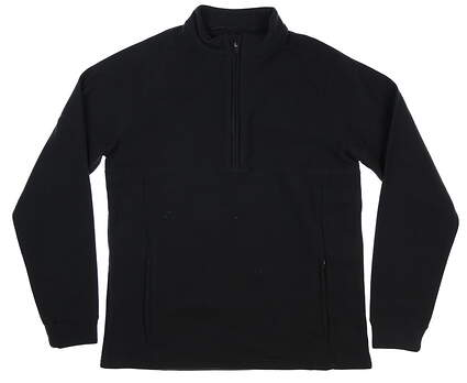 New Mens Straight Down 1/2 Zip Fleece Pullover Medium M Black MSRP $100 60483