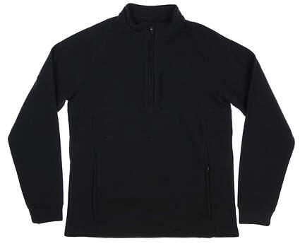 New Mens Straight Down 1/2 Zip Fleece Pullover Medium M Black MSRP $100 60483