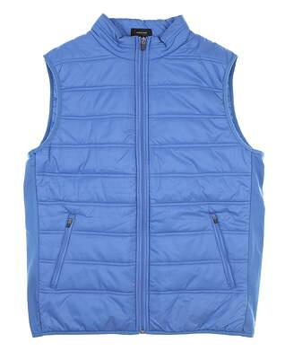 New Mens Straight Down Full Zip Vest Medium M Blue MSRP $104 60379