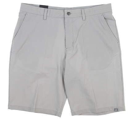 New Mens Adidas Pinstripe Golf Shorts 36 Gray MSRP $75 CE0466