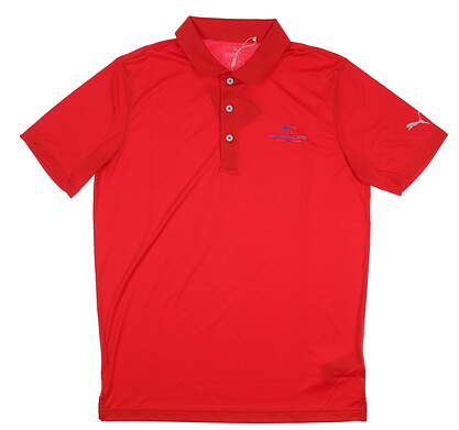 New W/ Logo Mens Puma Rotation Golf Polo Small S High Risk Red MSRP $55 577875 12