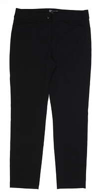 New Womens EP NY Ponte Knit Ankle Pants 10 Black MSRP $85 9140NAD