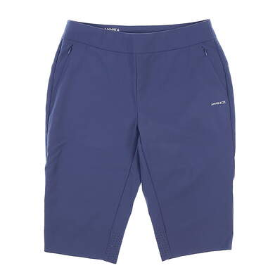 New Womens Cutter & Buck Annika Shorts Medium M Blue MSRP $85 LAB00018
