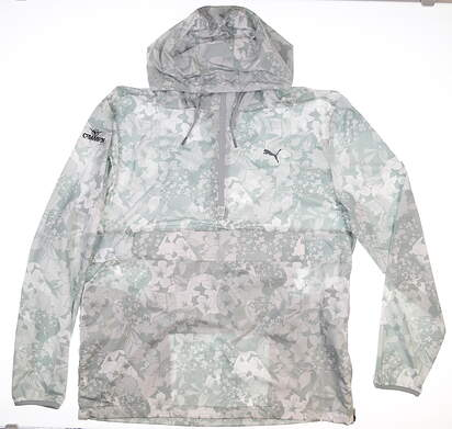 New W/ Logo Mens Puma 1/4 Zip TournAMENt Jacket X-Large XL Gray MSRP $90 596390 01