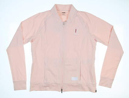 New W/ Logo Womens Puma Bomber Jacket Large L Rose MSRP $100 595845 04