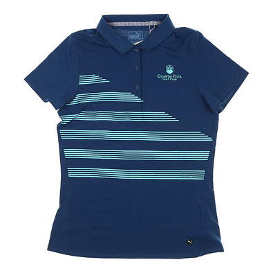 New W/ Logo Womens Puma Polo Small S Blue MSRP $60 595480 01