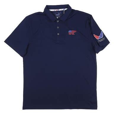 New W/ Logo Youth Puma Boys Golf Polo X-Large XL Navy Blue MSRP $45 575157 01