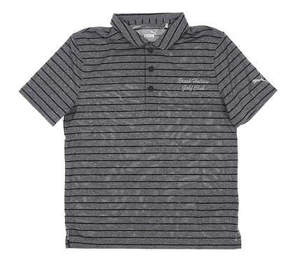 New W/ Logo Youth Puma Boys Rotatio Stripe Polo Small S Black MSRP $35 579548 01