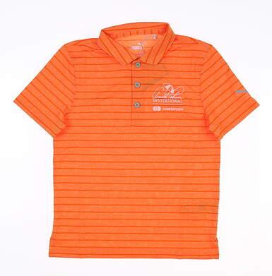 New W/ Logo Youth Puma Boys Rotation Polo Medium M Orange 579548 04