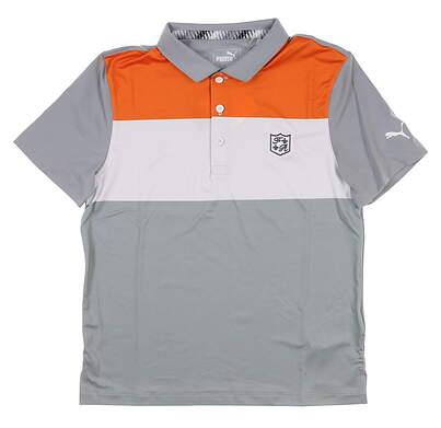 New W/ Logo Youth Puma Boys Nineties Polo Small S Multi MSRP $40 578134 03