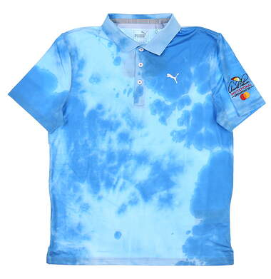 New W/ Logo Youth Puma Boys Height Polo Large L Blue MSRP $45 598671 02