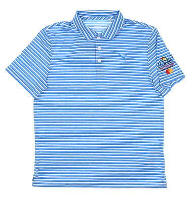 New W/ Logo Youth Puma Boys Links Polo Large L Ibiza Blue MSRP $35 598672 04