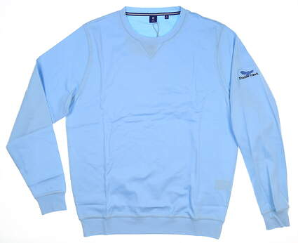 New W/ Logo Mens Footjoy 1857 Cotton Pullover X-Large XL Ice Blue MSRP $144 27858