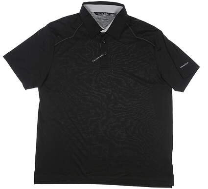 New W/ Logo Mens Travis Mathew Golf Polo X-Large XL Black MSRP $80 11360108