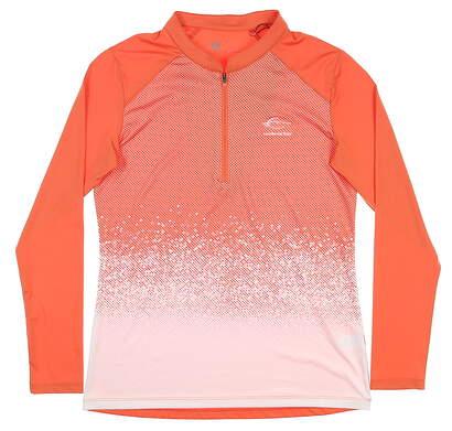New W/ Logo Womens Level Wear 1/4 Zip Golf Pullover Small S Orange MSRP $60 BL12L