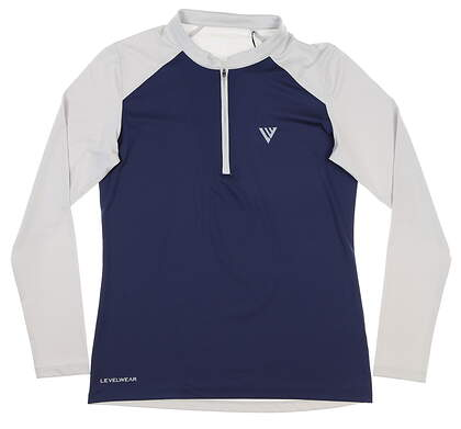 New Womens Level Wear 1/4 Zip Golf Pullover Small S Navy Blue MSRP $65 BL14L