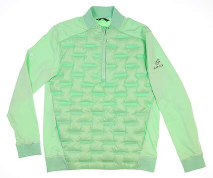 New W/ Logo Mens Level Wear 1/4 Zip Golf Pullover Medium M Green MSRP $130 RE50L