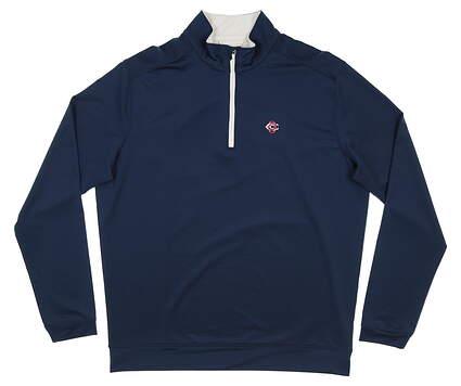 New W/ Logo Mens Level Wear 1/4 Zip Pullover Large L Navy Blue MSRP $75