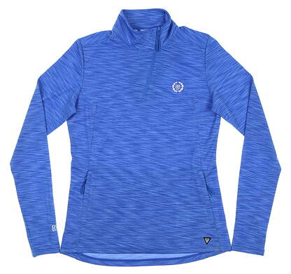 New W/ Logo Womens Level Wear 1/4 Zip Golf Pullover Small S Royal MSRP $65 MK00L