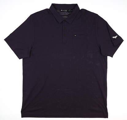 New W/ Logo Mens Travis Mathew Bon Voyage Polo XX-Large XXL Purple MSRP $95 1MR102