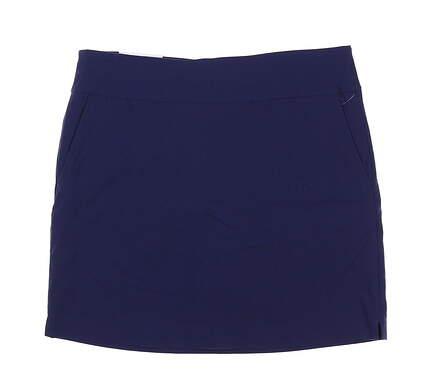New Womens Greg Norman Skort 10 Navy Blue MSRP $59 G2S5H478