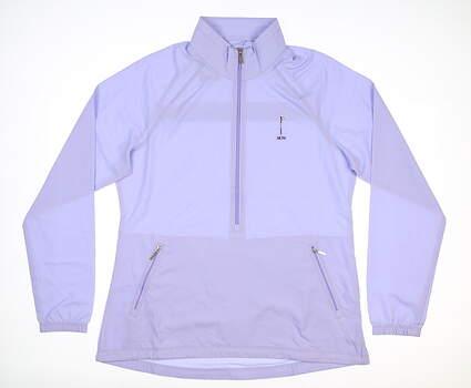 New W/ Logo Womens Cutter & Buck Wind Breaker Large L Purple MSRP $80 LCO09982