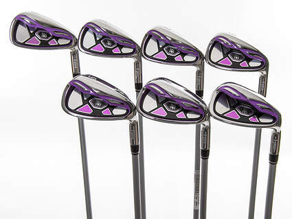 Mint Lynx Crystal Pink Iron Set 5-PW SW Stock Graphite Shaft Graphite Ladies Right Handed 37.25in