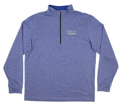 New Mens Straight Down 1/4 Zip Golf Pullover Large L Blue MSRP $92