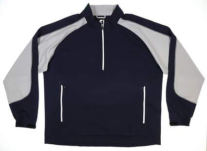 New Mens Footjoy Golf Sport Windshirt XX-Large XXL Navy Blue MSRP $88 32610