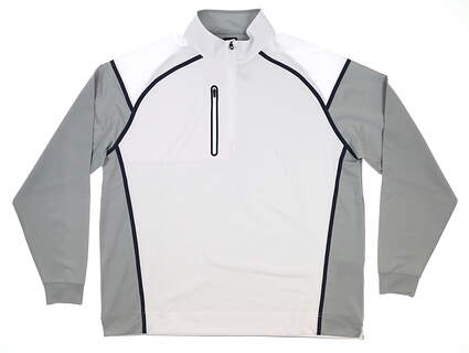 New Mens Footjoy Golf Windtech Pullover X-Large XL White MSRP $145 24773