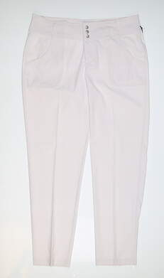New Womens Jo Fit Golf Pants 10 White MSRP $105