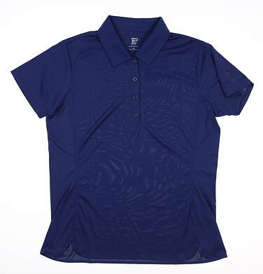 New W/ Logo Womens EP NY Golf Polo Medium M Navy Blue MSRP $60 NS5157