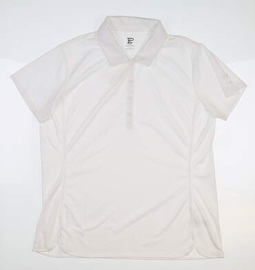 New W/ Logo Womens EP NY Golf Polo Large L White MSRP $60