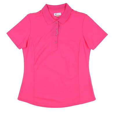 New W/ Logo Womens Greg Norman Pro Series Polo Medium M Pink MSRP $45 G2S5K447