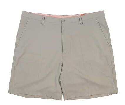 New Mens Fennec Tech Flat Front Golf Shorts 42 Khaki MSRP $85 000F600