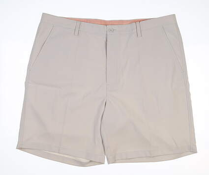 New Mens Fennec Tech Flat Front Golf Shorts 42 Stone MSRP $85 000F600