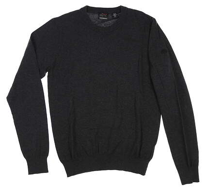 New W/ Logo Mens Greg Norman Sweater Small S Black MSRP $70